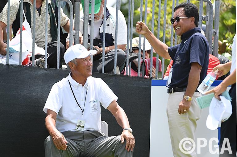【1R/Photo】PGA倉本会長とJGTO青木会長