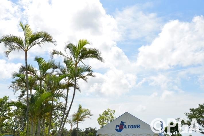 【大会前日/Photo】コースには青空がのぞいてきました