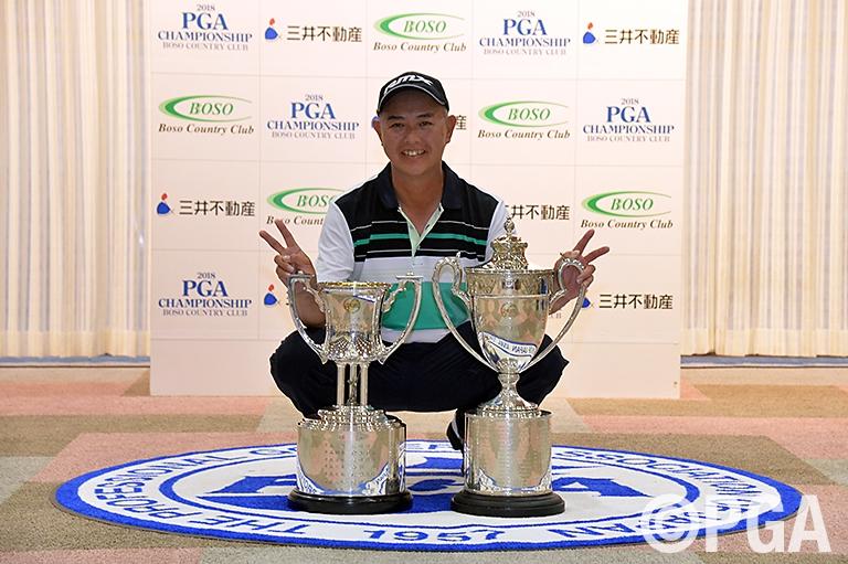 日本プロゴルフ選手権3勝目を飾った谷口徹