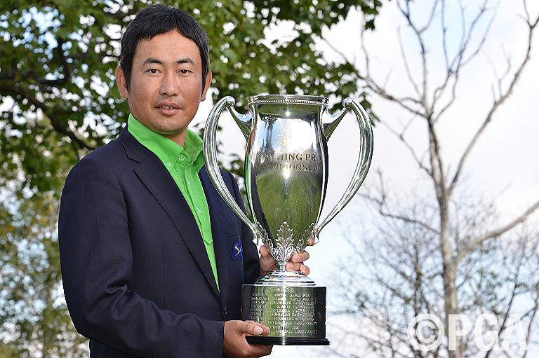 ティーチングプロ選手権初優勝を果たした澤口清人